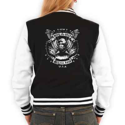College Jacke Damen: Ride the Best - Eat the Rest - USA