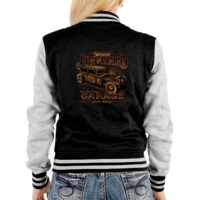 College Jacke Damen: Junkyard Garage