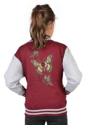 College Jacke Mädchen Kinder: Butterfly