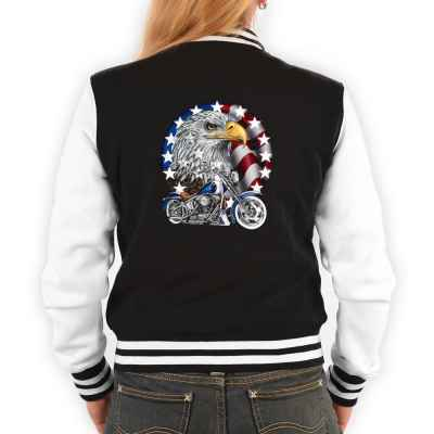 College Jacke Damen: Bike with Eagle