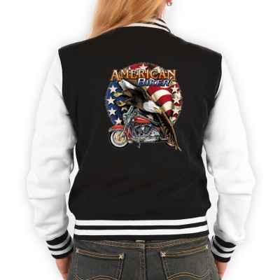 College Jacke Damen: American Biker