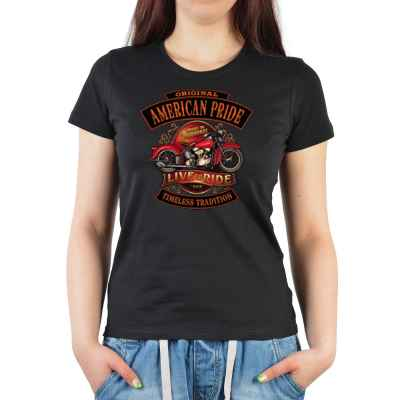 Girlie: Original American Pride - Live to Ride - Timeless Tradition