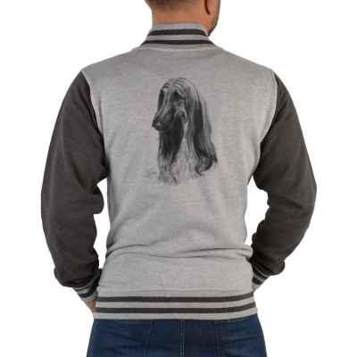 College Jacke Herren: Afghanischer Windhund