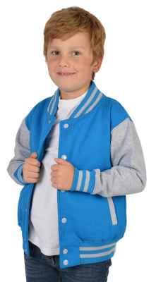College Jacke Jungen Kinder: Goodman Farbe: türkis
