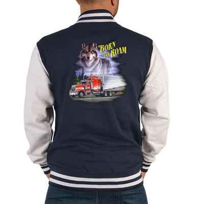 College Jacke Herren: Trucker - Born to Roam