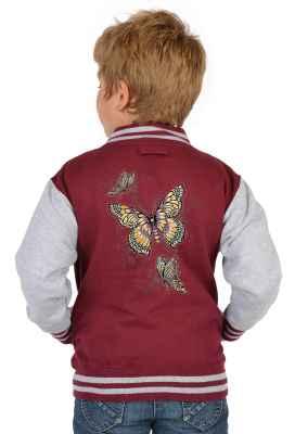 College Jacke Jungen Kinder: Butterfly