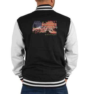 College Jacke Herren: American Flag - Home of the Free