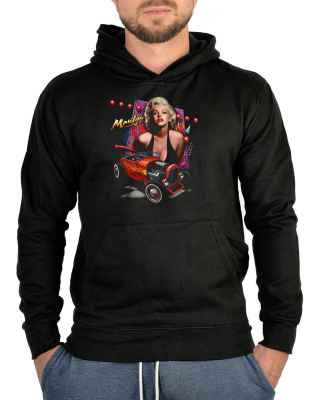 Kapuzensweater: Marilyn Monroe with Hod Rod