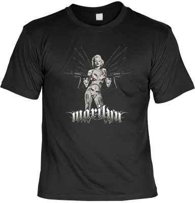 T-Shirt: Marilyn Monroe mit Maschinengewehren