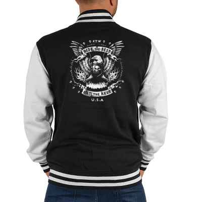 College Jacke Herren: Ride the Best - Eat the Rest - USA