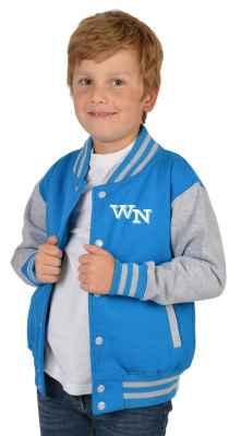 College Jacke Jungen Kinder: Initiale Farbe: türkis