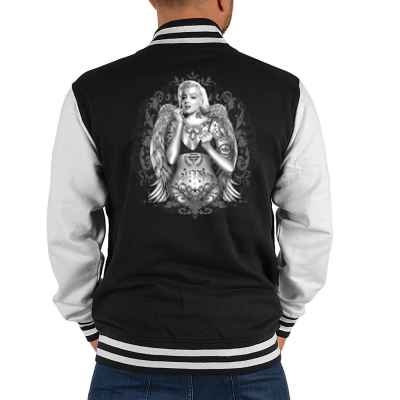 College Jacke Herren: Marilyn Monroe with Wings