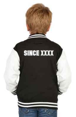 College Jacke Jungen Kinder: Wunschjahrgang