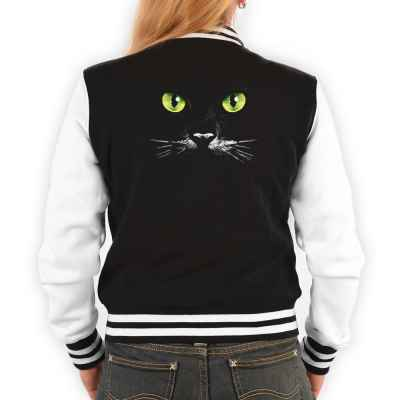 College Jacke Damen: Katzengesicht