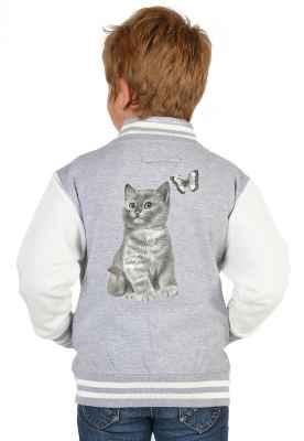 College Jacke Jungen Kinder: Süsse Katze