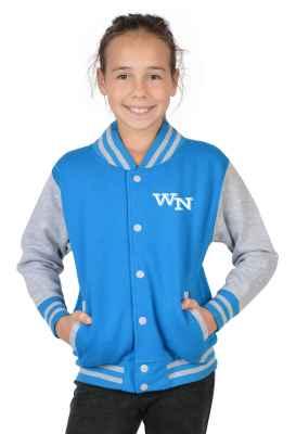 College Jacke Mädchen Kinder: Initiale Farbe: türkis