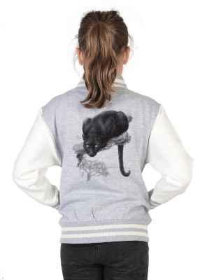 College Jacke Mädchen Kinder: Panther