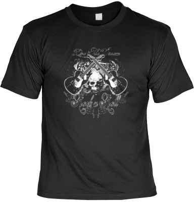 T-Shirt: Rock n Roll - Totenkopf miti Gitarren