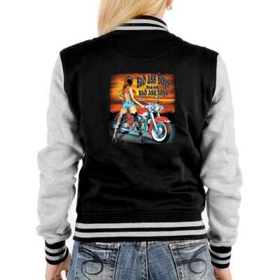 College Jacke Damen: Bad ass boys have bad ass toys