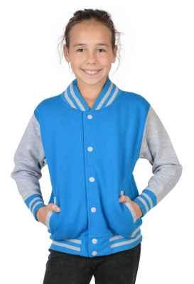College Jacke Mädchen Kinder: Wunschjahrgang Farbe: türkis