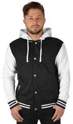College Jacke mit Kapuze: rechte Tasche Logo Veri