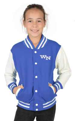 College Jacke Mädchen Kinder: Initiale