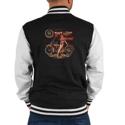 College Jacke Herren: Live the Legend - Ride a Classic