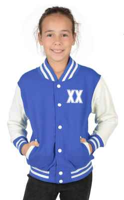 College Jacke Mädchen Kinder: Wunschjahr zweistellig