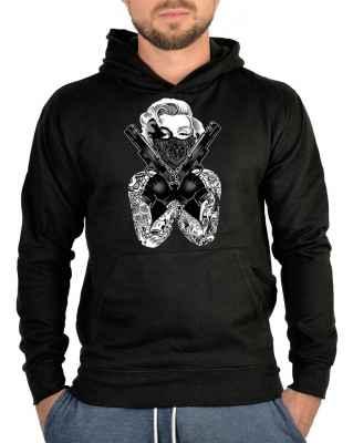 Kapuzensweater: Marilyn Monroe - Gangsterpose with Guns