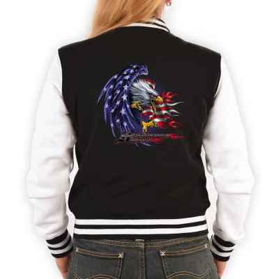 College Jacke Damen: Stars and Stripes Eagle - Righteouos Ruler