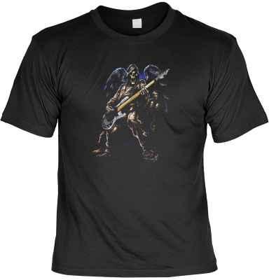 T-Shirt: Toter Rocker mit E-Gitarre