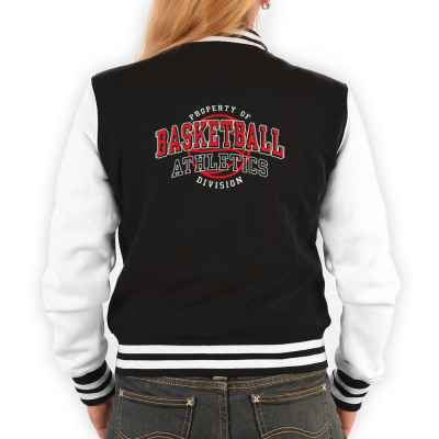 College Jacke Damen: Proberty of Basketball Athletics Division