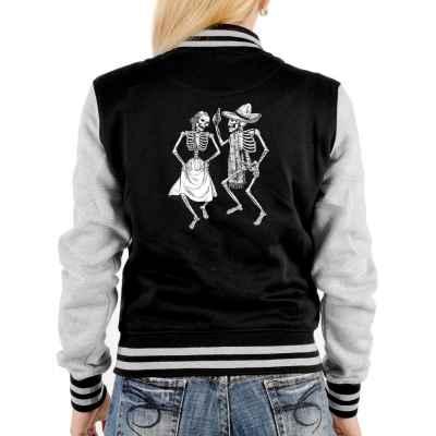 College Jacke Damen: Dancing Skeletons