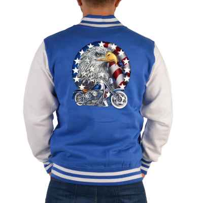 College Jacke Herren: Bike with Eagle