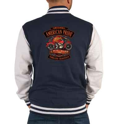 College Jacke Herren: Original American Pride - Live to Ride - Timeless Tradition