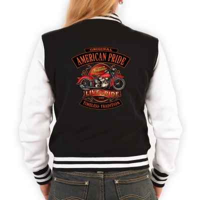 College Jacke Damen: Original American Pride - Live to Ride - Timeless Tradition