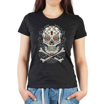Girlie: floral Skull