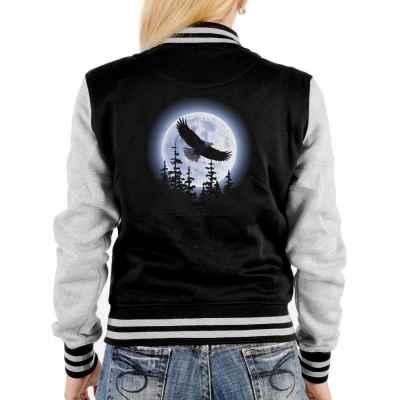 College Jacke Damen: Adler im Mondenschein