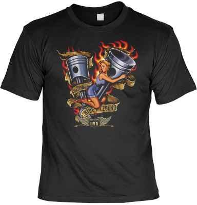 T-Shirt: Pin Up Girl - Ride a Legend