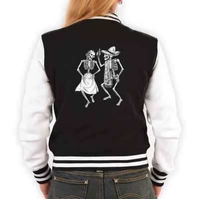 College Jacke Damen: Dancing Skeletons