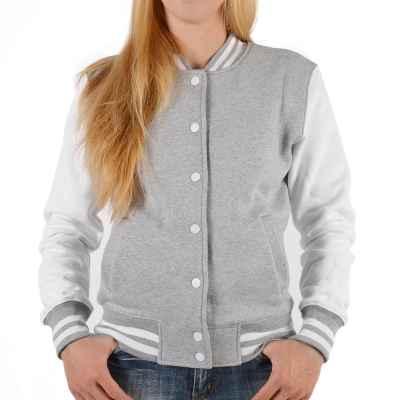 College Jacke Damen: Wunschjahrgang Rückendruck