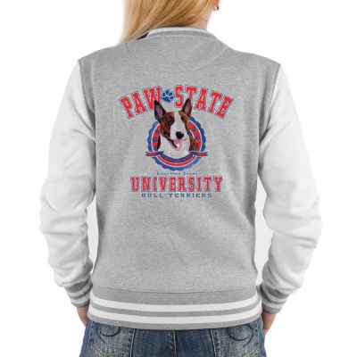 College Jacke Damen: Paw State University - Bull Terriers