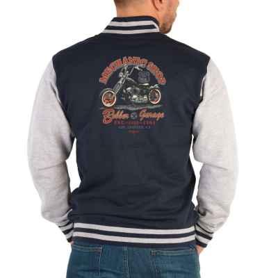 College Jacke Herren: Route 66 Mechanic Shop - Bobber Garage est. 1964
