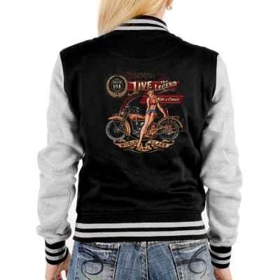 College Jacke Damen: Live the Legend - Ride a Classic