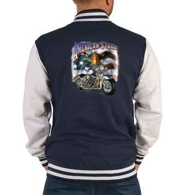 College Jacke Herren: Chopper - American Steel