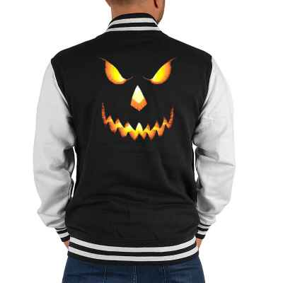 College Jacke Herren: Halloween Face