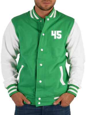 College Jacke Herren: Jacke 45 Farbe: Hell-Grün