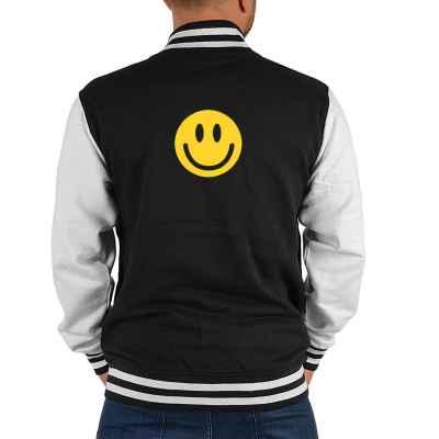 College Jacke Herren: Smiley Face