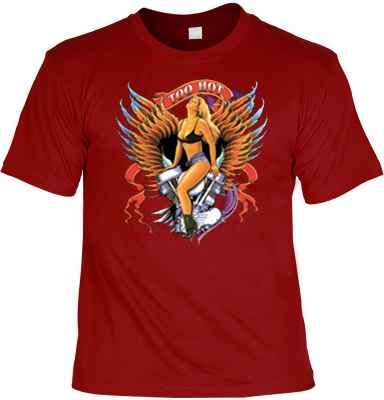 T-Shirt: Too Hot - Pin Up