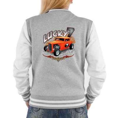 College Jacke Damen: Hod Rod - Lucky 7 Speedway